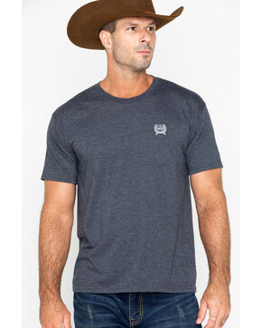 Cinch Men's American Classic Graphic T-Shirt, Charcoal, hi-res