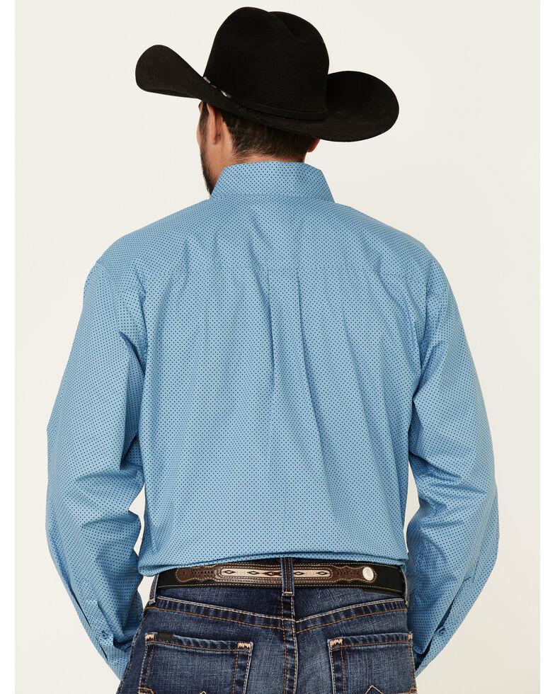 Cinch Men's Blue Polka Dot Print Long Sleeve Western Shirt , Blue, hi-res