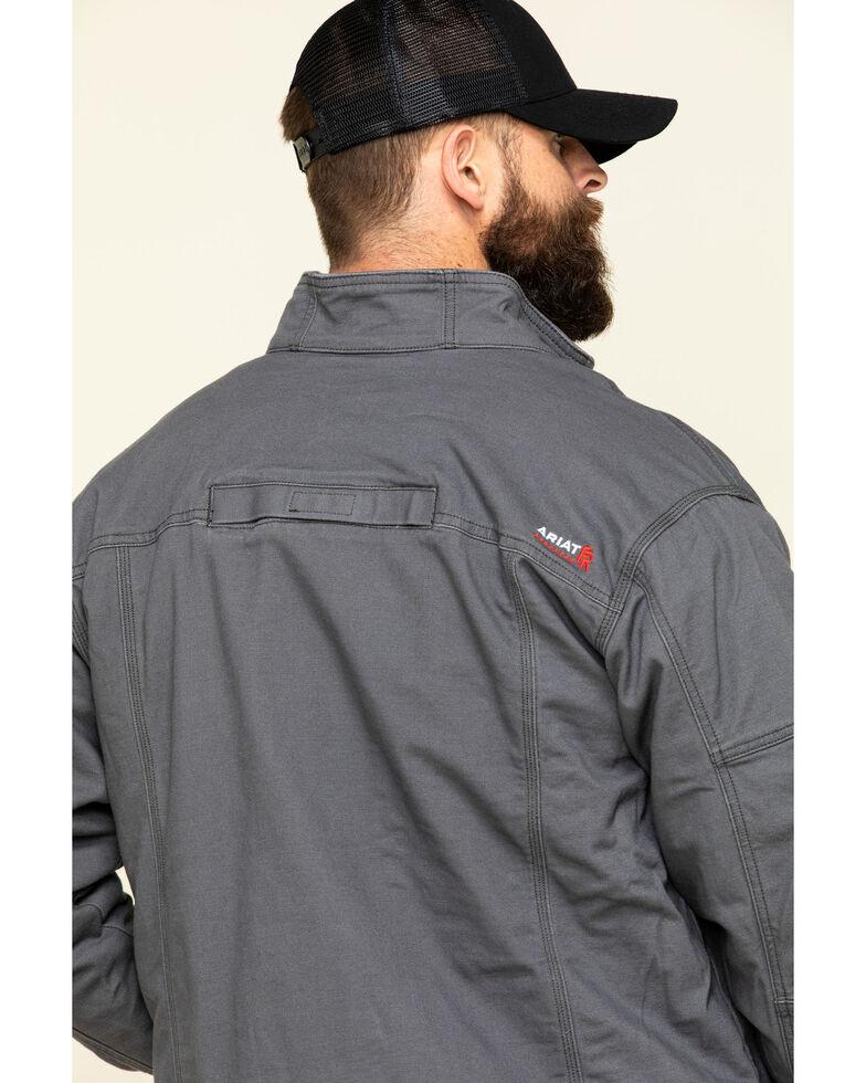 Ariat Men's Iron Grey FR Duralight Stretch Canvas Field Work Jacket - Tall , Steel, hi-res
