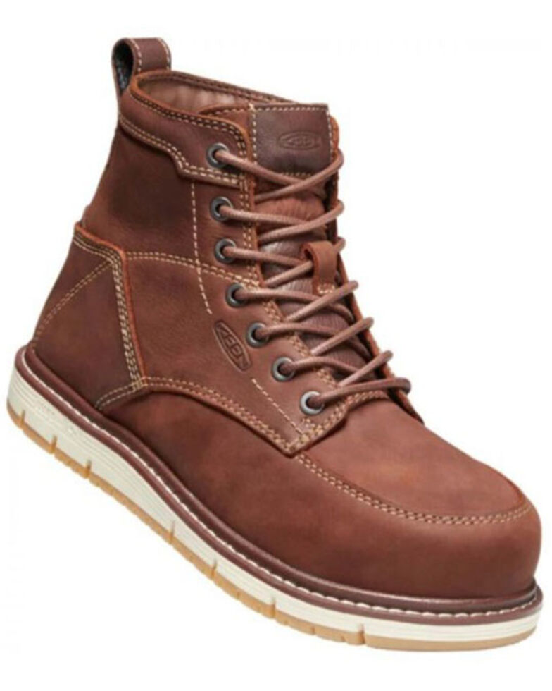 Keen Women's San Jose Work Boots - Aluminum Toe, Brown, hi-res