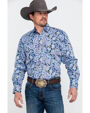 Resistol Men's Holstein Multi Paisley Print Long Sleeve Western Shirt , Multi, hi-res
