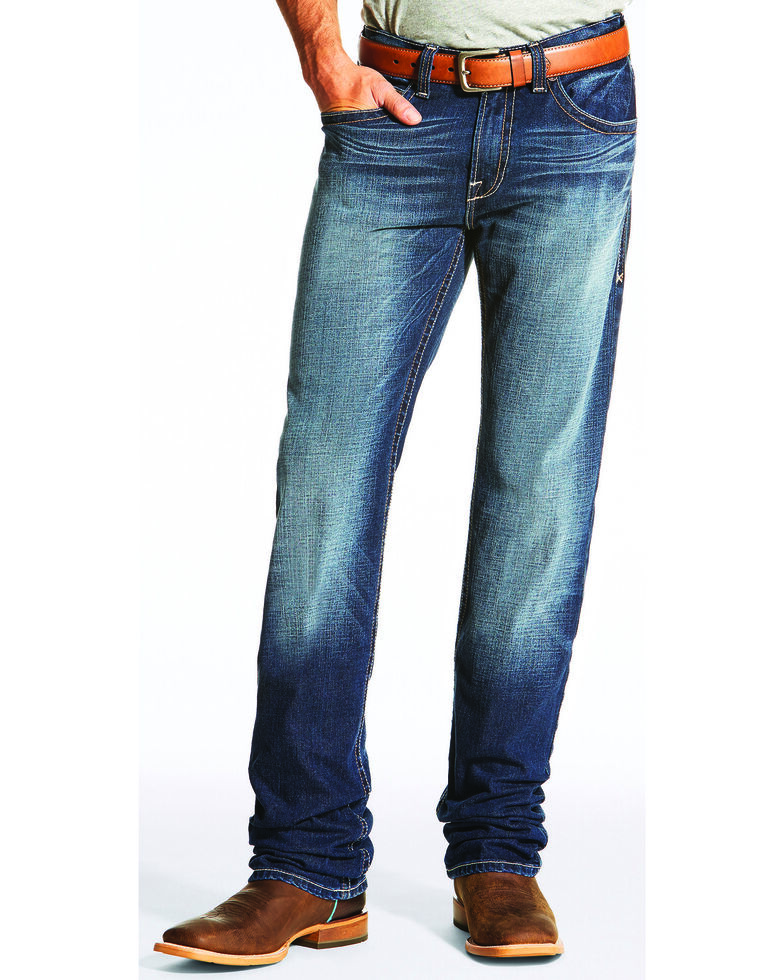 Ariat Men's M2 Straightedge Relaxed Bootcut Jeans, Indigo, hi-res