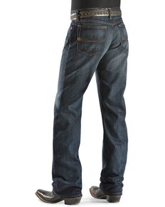 Ariat Denim Jeans - M4 Roadhouse Low Rise Relaxed Fit - Big & Tall, Dark Stone, hi-res
