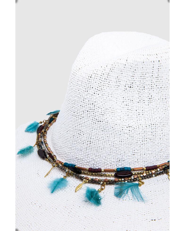 Nikki Beach Women's Dara Toyo Western Straw Hat , White, hi-res