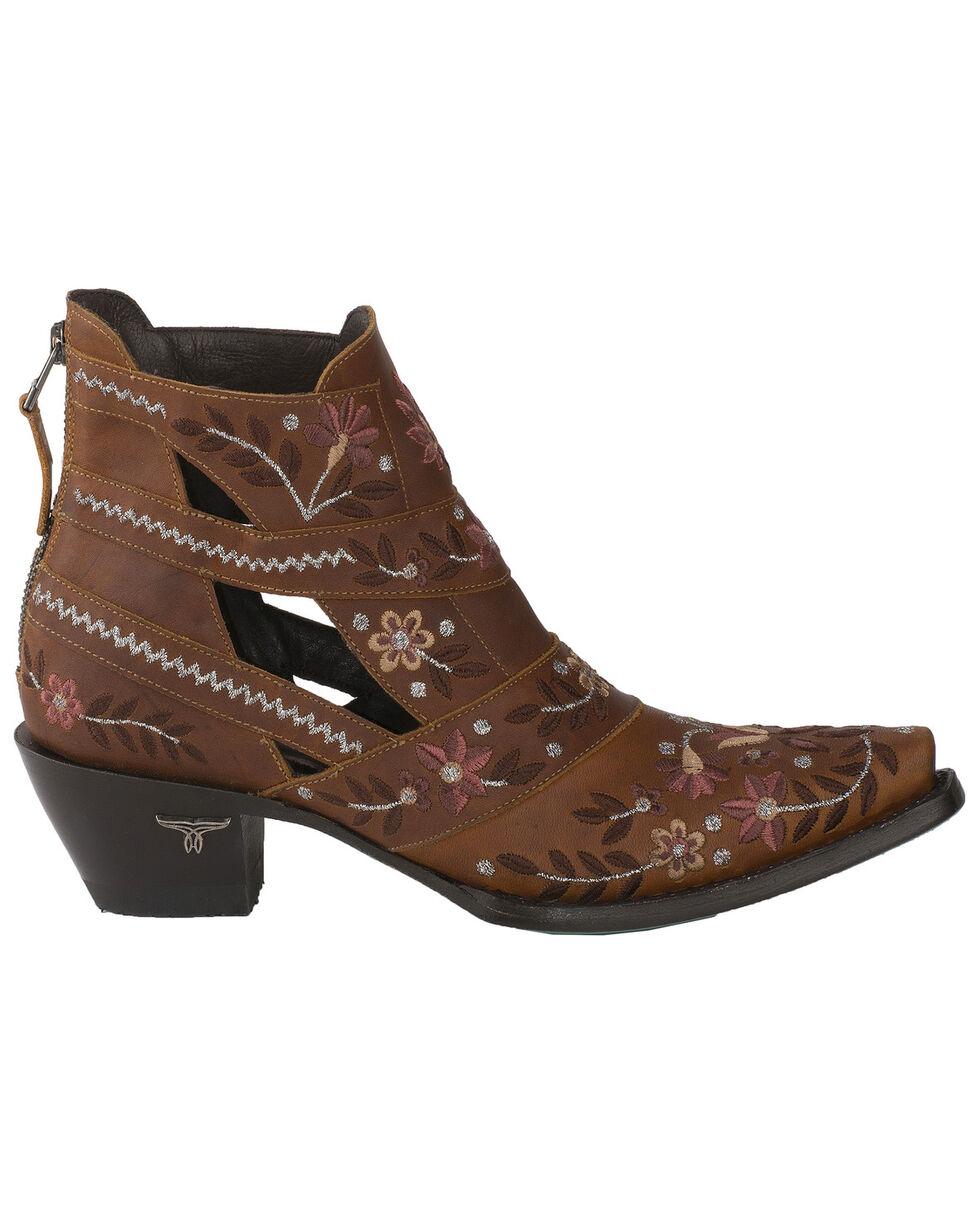 Lane Women's Camillia Western Booties - Snip Toe, Tan, hi-res