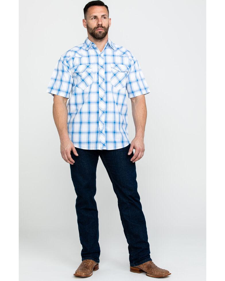 Resistol Men's Joshua Tree Med Plaid Short Sleeve Western Shirt , Blue, hi-res