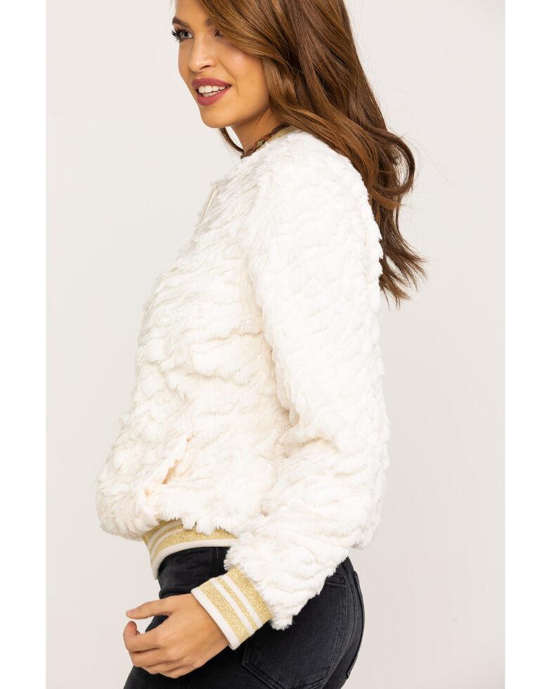 Ariat Women's Lady Luck White Sands Bomber Jacket , White, hi-res