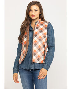 Outback Trading Co. Women's Renmark Vest, Orange, hi-res