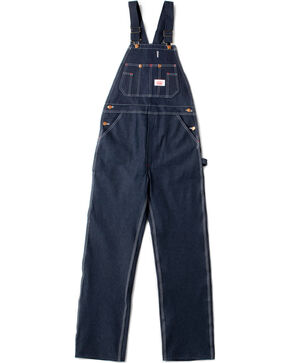 Round House Men's Blue Classic Button Fly Overalls , Blue, hi-res