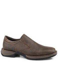 Roper Men's Wilder Slip-On Shoes - Square Toe, Brown, hi-res