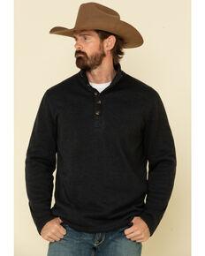 Stetson Men's Grey Bonded Sweater Knit Pullover Sweatshirt , Grey, hi-res