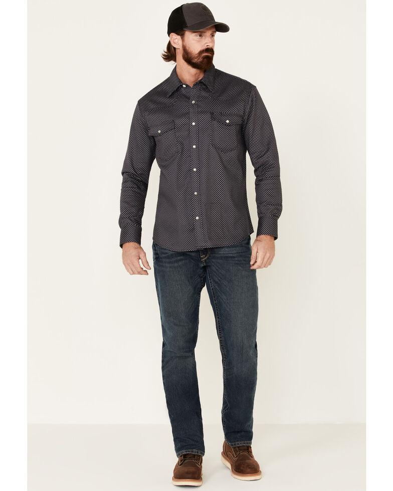 Rock & Roll Denim Men's FR Charcoal Geo Print Long Sleeve Work Shirt , Charcoal, hi-res