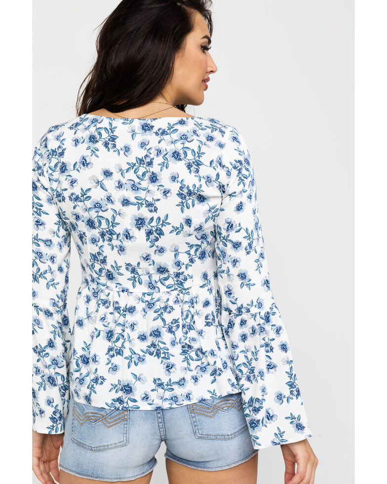 Idyllwind Women's On Vacation Top, Ivory, hi-res