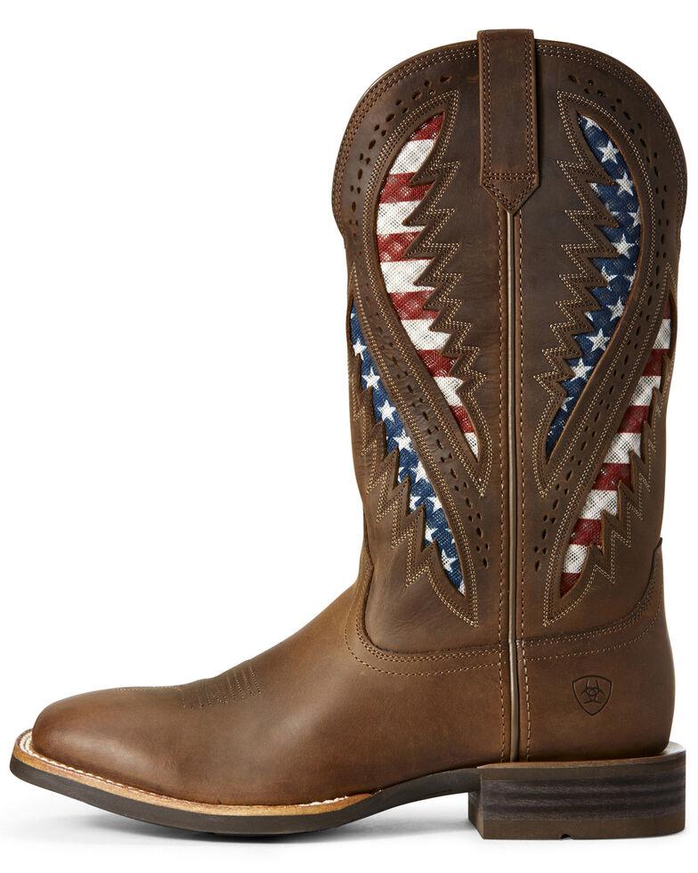 Ariat Men's VentTEK Western Boots - Wide Square Toe, Brown, hi-res