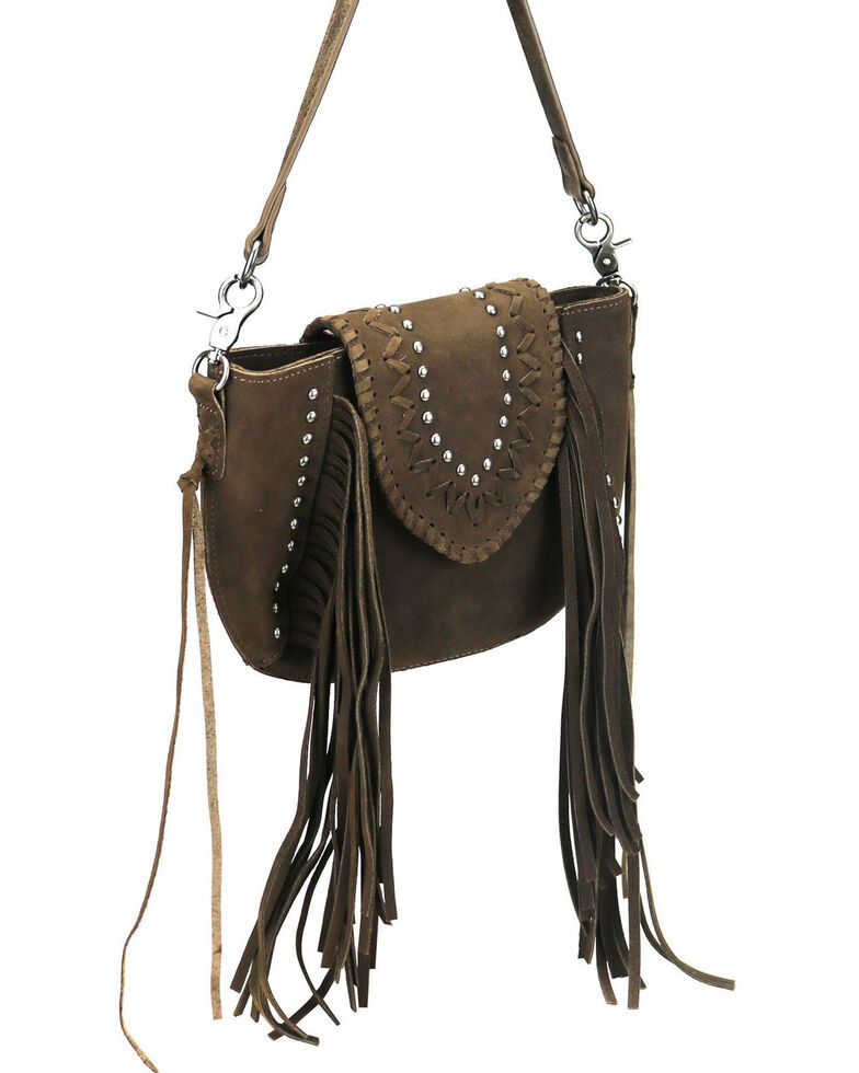Montana West Women's Shelby Leather Crossbody Bag, Coffee, hi-res