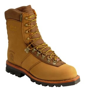 "Chippewa Arctic Nubuck Insulated Waterproof 9"" Lace-Up Work Boots, Golden Tan, hi-res"