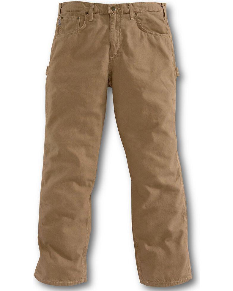 Carhartt Loose Fit Canvas Carpenter Five Pocket Work Pants, Mushroom, hi-res