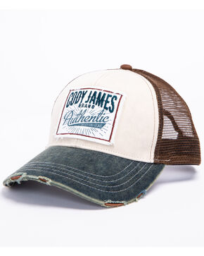 Cody James Men's Retro Patch Trucker Cap, Ivory, hi-res