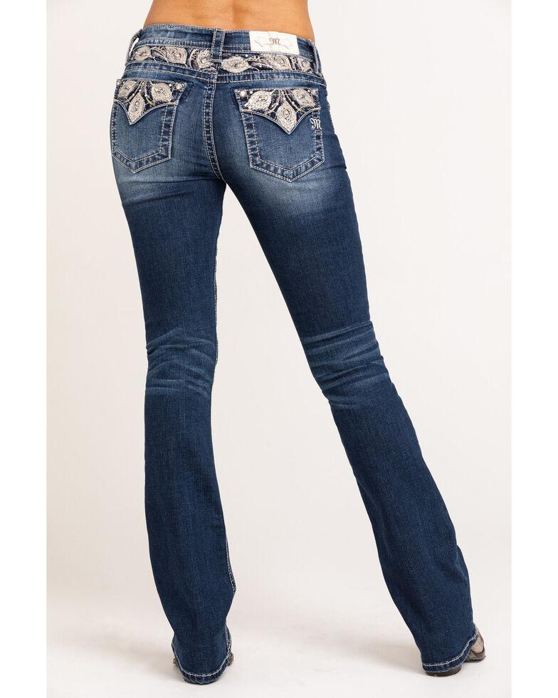 "Miss Me Women's Peacock Chloe Bootcut 32"" Jeans, Blue, hi-res"