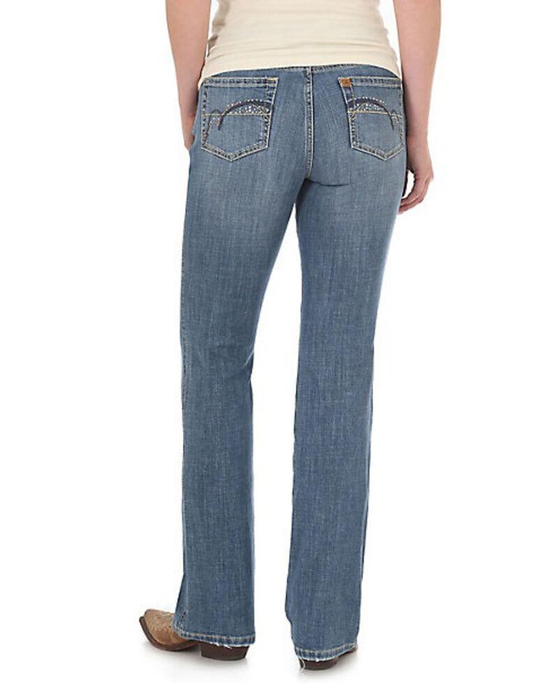 Wrangler Women's Madrid Aura Low Rise Boot Jeans, Indigo, hi-res