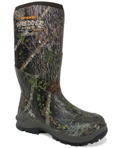 Dryshod Men's Shredder MXT Rubber Boots - Round Toe, Camouflage, hi-res