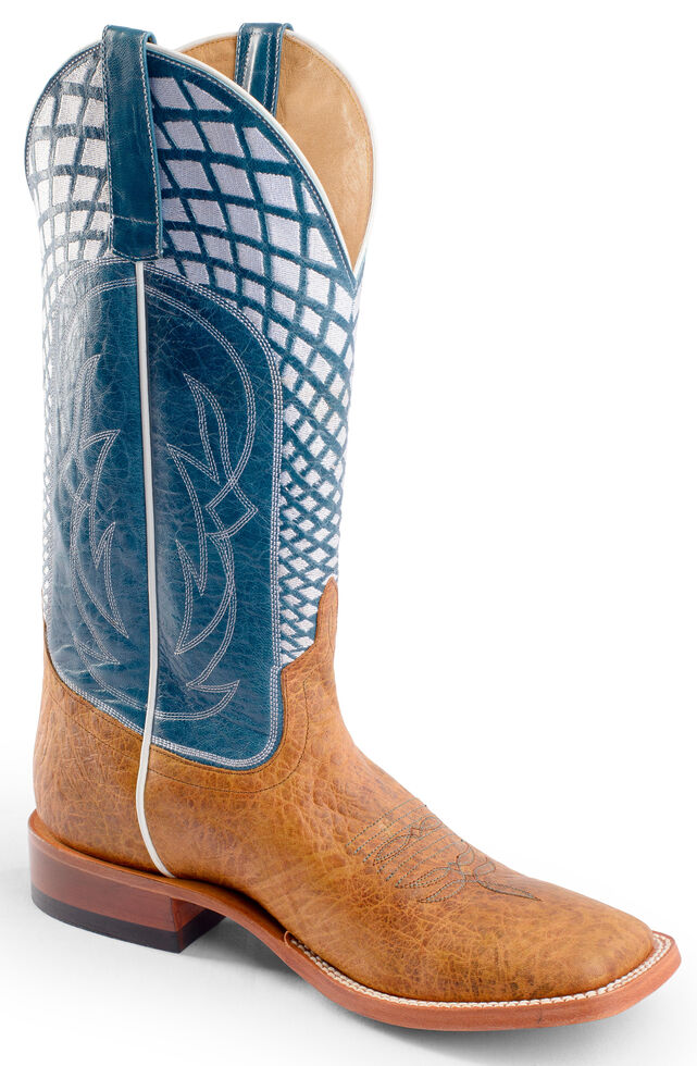 Horse Power Men's Blue Volcano Western Boots - Square Toe, Blue, hi-res