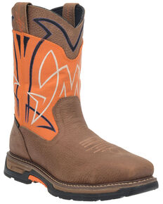 Dan Post Men's Orange Storm Surge Western Work Boots - Composite Toe , Orange, hi-res