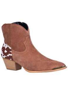 Dingo Women's Buck The Rules Western Booties - Snip Toe, Tan, hi-res