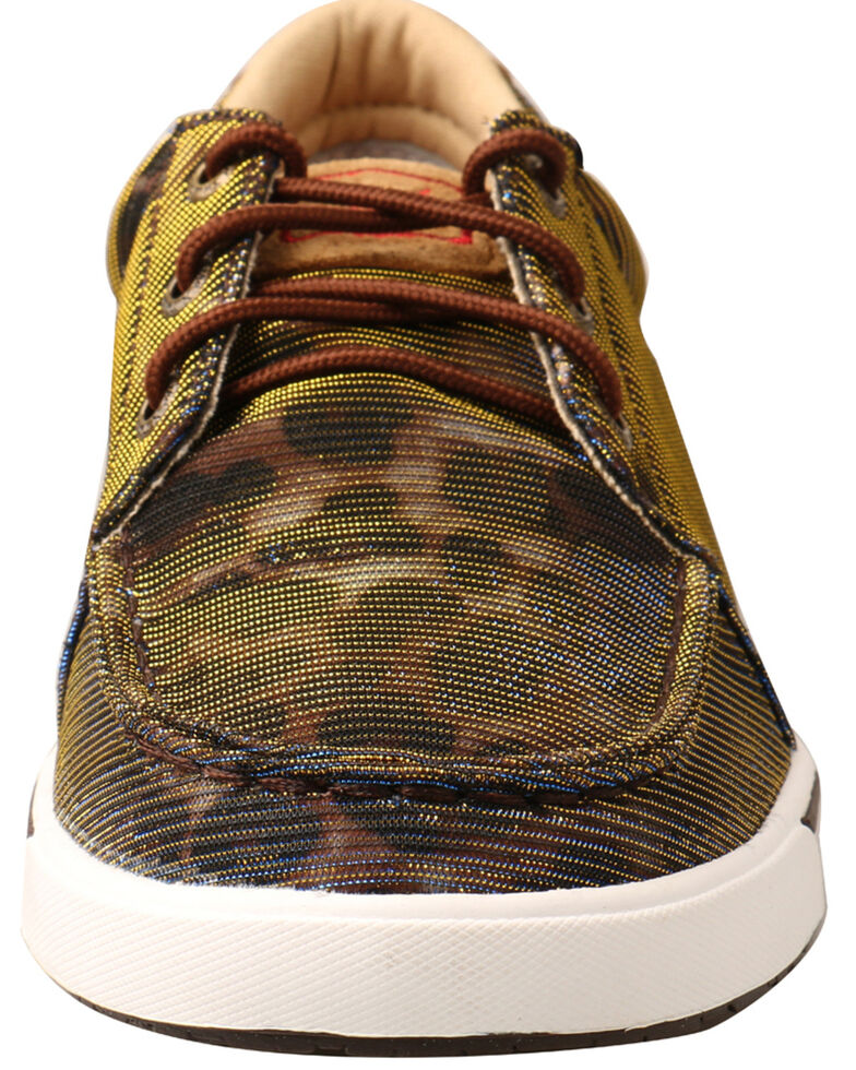 Twisted X Women's Leopard Brown Casual Sneakers, Leopard, hi-res
