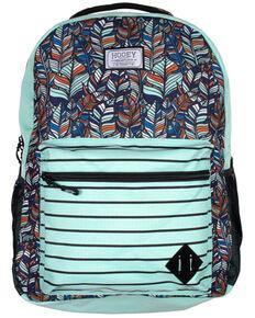 HOOey Recess Teal & Red Backpack, Teal, hi-res