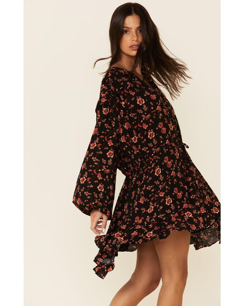 Free People Women's Flower Fields Mini Dress, Navy, hi-res