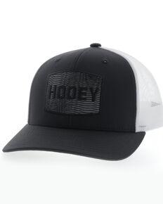 HOOey Men's Black Illusion Rectangle Patch Mesh Ball Cap , Black, hi-res