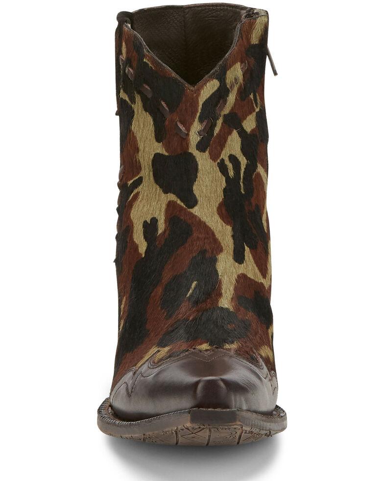 Tony Lama Women's Anahi Camo Fashion Booties - Snip Toe, Camouflage, hi-res