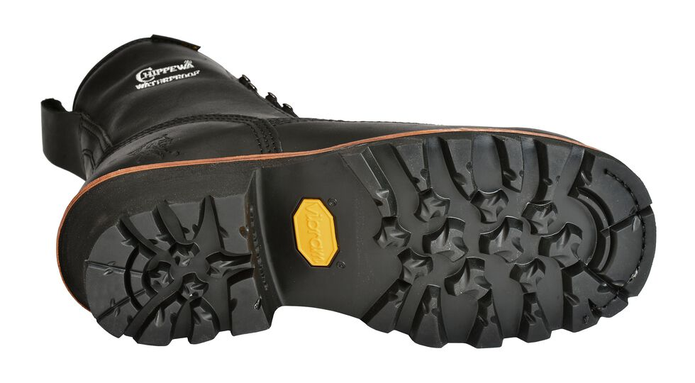 """Chippewa Oiled Waterproof & Insulated 8"""" Lace-Up Logger Boots - Composite Toe, Black, hi-res"""