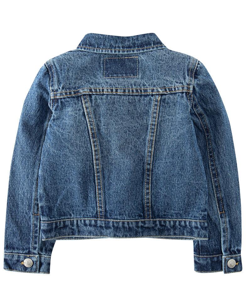 Levi's Toddler Girls' Medium Wash Denim Button-Down Trucker Jacket , Blue, hi-res