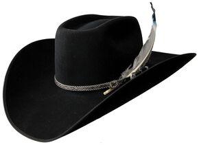Resistol 4X Tuff Hedeman Bull Bash Felt Cowboy Hat, Black, hi-res