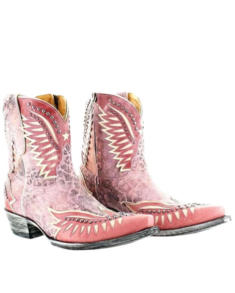 Old Gringo Women's Dawn Pipin Fashion Booties - Snip Toe, Pink, hi-res