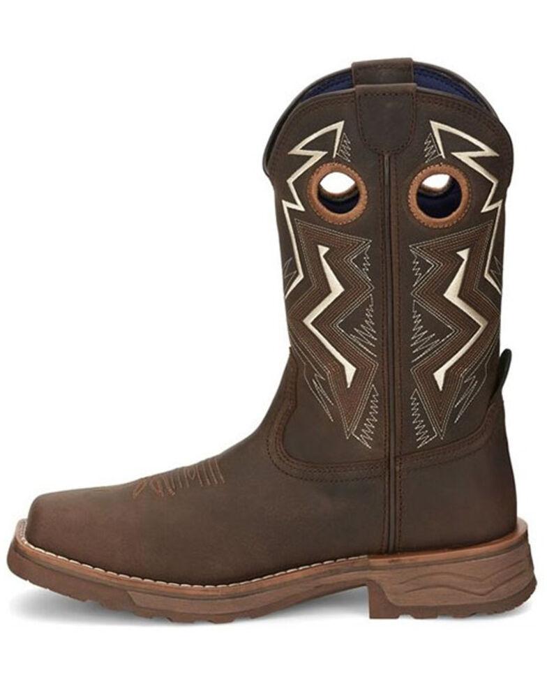 Tony Lama Men's Force Waterproof Western Work Boots - Composite Toe, Brown, hi-res