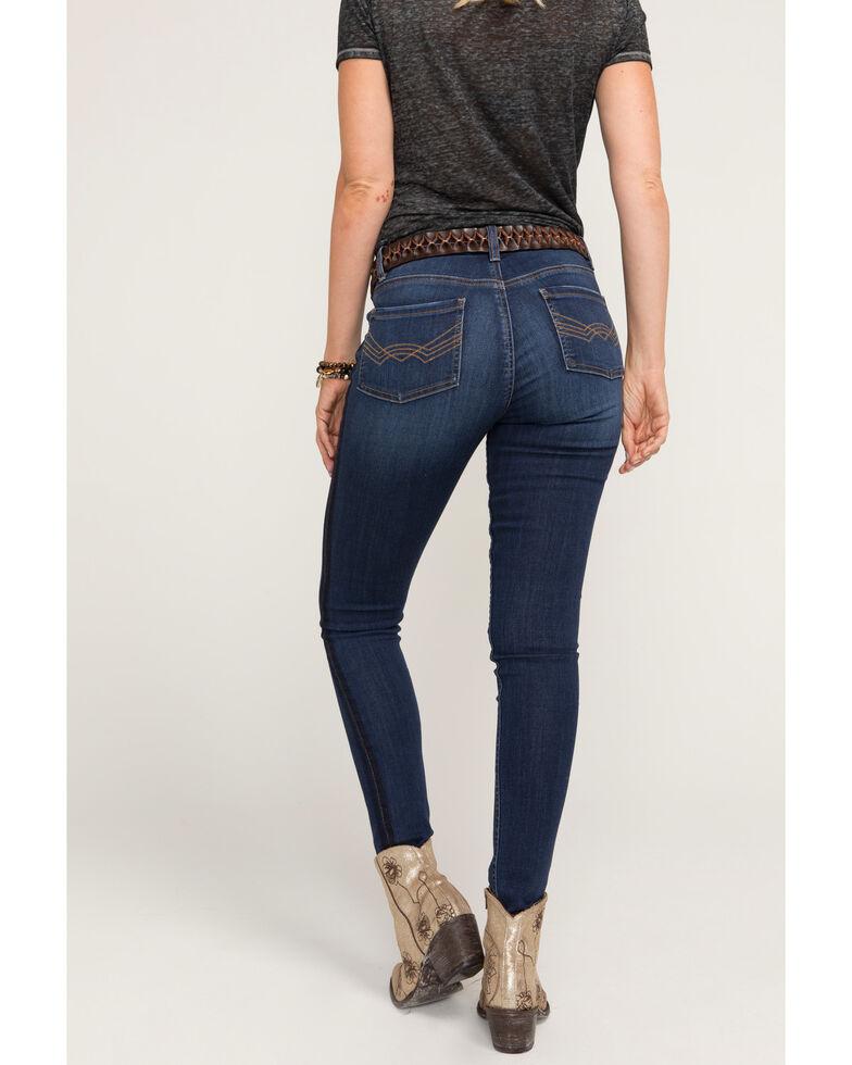 Idyllwind Women's Military Stripe Skinny Jeans, Blue, hi-res