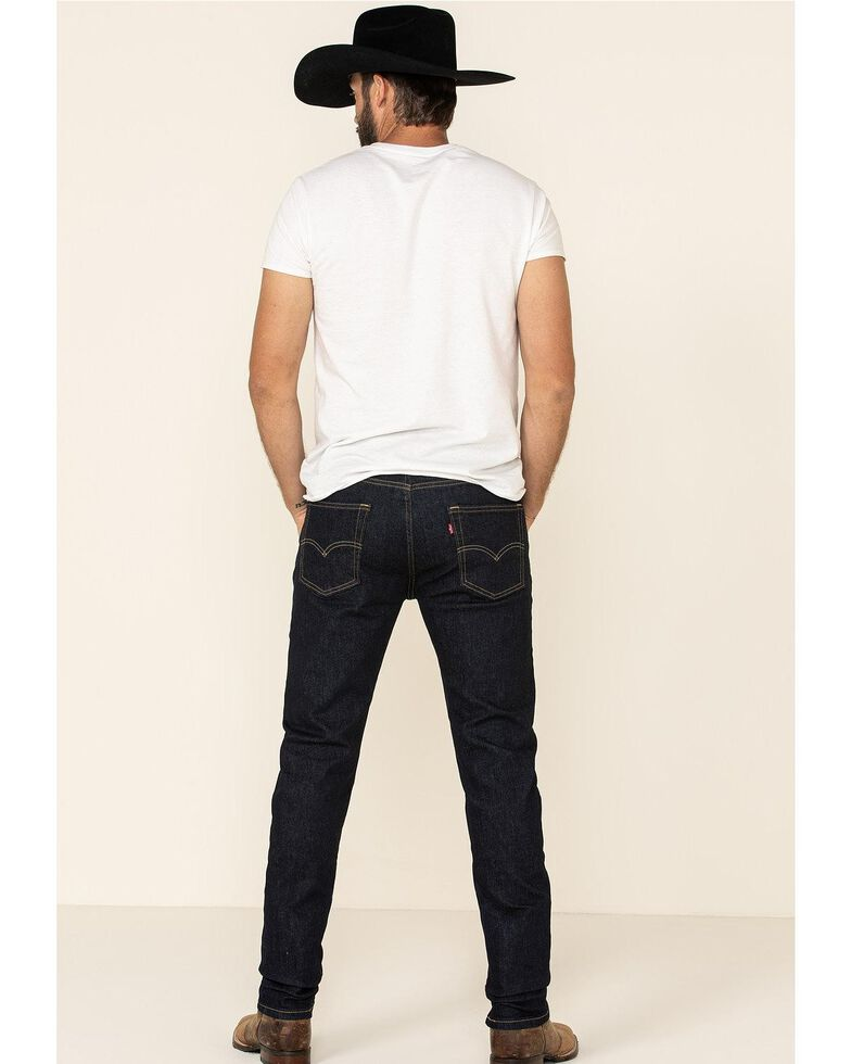 Levi's Men's 502 Dark Hollow Rinse Tapered Stretch Regular Straight Leg Jeans , Blue, hi-res
