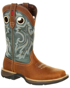 Durango Men's Rebel Pull-On Western Boots - Square Toe, Brown, hi-res