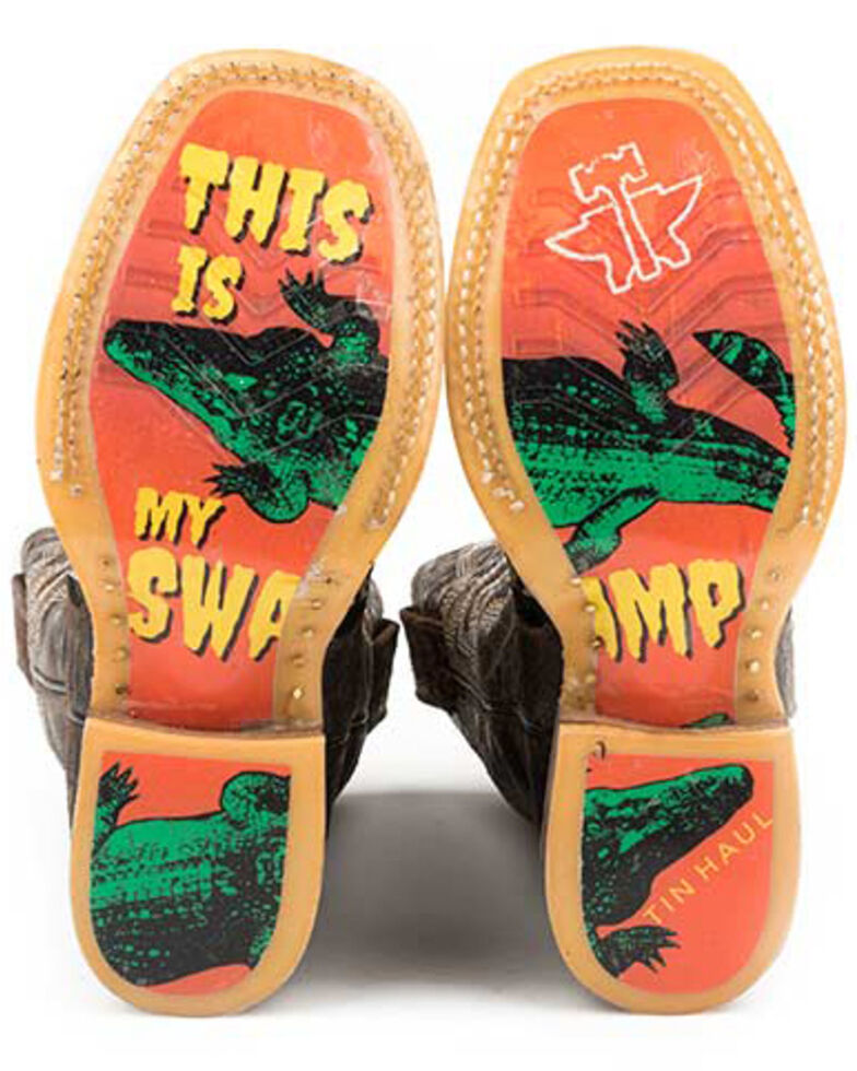 Tin Haul Youth Boys' Swamp Chomp Western Boots - Square Toe, , hi-res