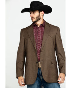 Cripple Creek Men's Solid Chestnut Houston Sport Coat  , Chestnut, hi-res
