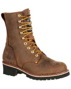 Georgia Boot Men's Waterproof Insulated Logger Work Boots - Steel Toe, Brown, hi-res