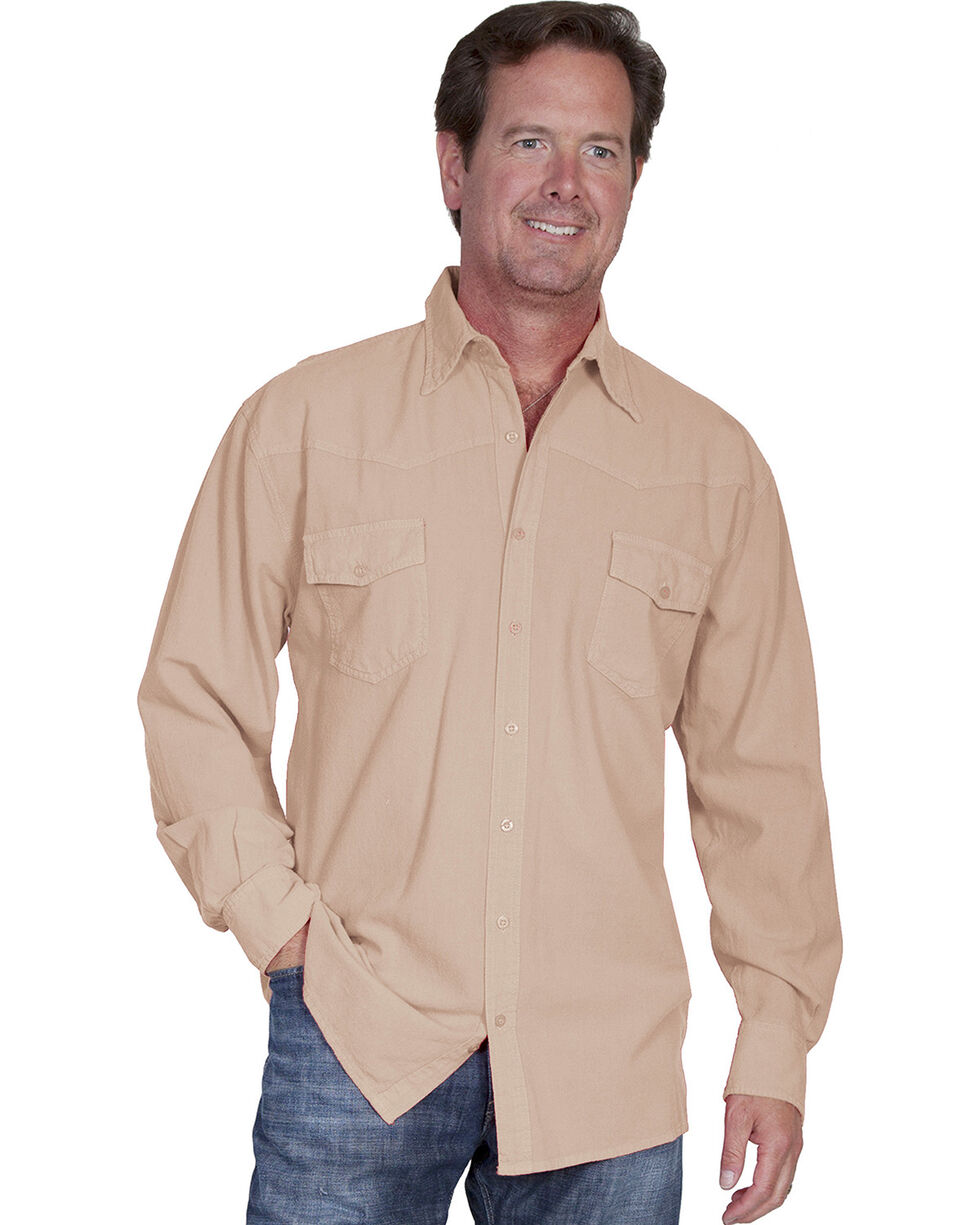 Scully Cantina Western Yoke Shirt, Sand, hi-res