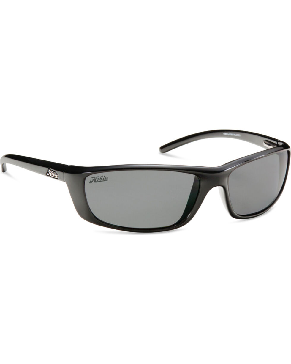 Hobie Men's Shiny Black Polarized Cabo Sunglasses, Black, hi-res