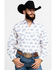 Ely Cattleman Men's Assorted Aztec Print Long Sleeve Western Shirt , Multi, hi-res