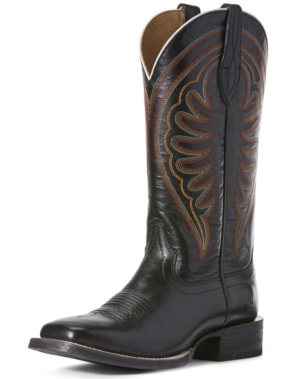 Ariat Women's Shiloh Phantom Western Boots - Wide Square Toe, Black, hi-res