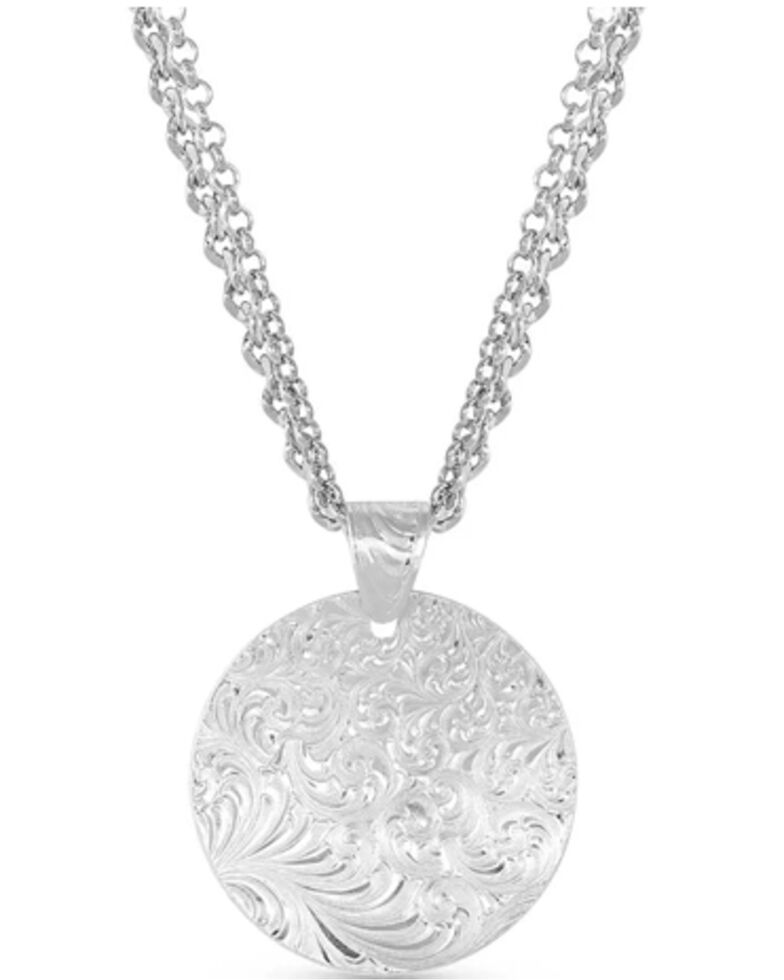 Montana Silversmiths Women's The Dutton Y Yellowstone Necklace, Silver, hi-res