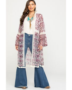 Tasha Polizzi Women's Free Spirit Duster, Rose, hi-res